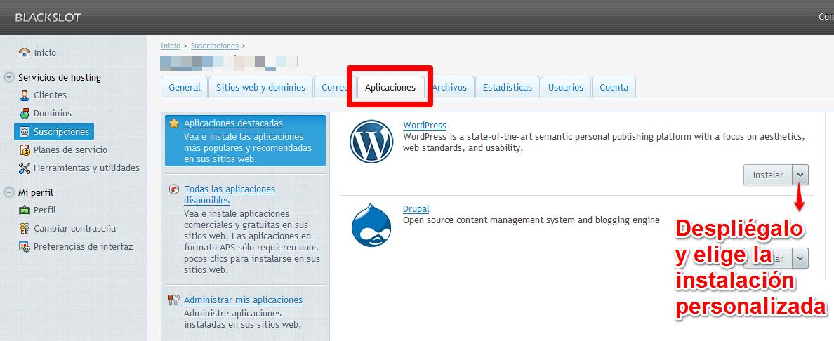 Instalación sencilla de WordPress
