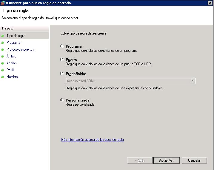 Bloquear IPs desde el firewall de Windows-Añadir regla de firewall