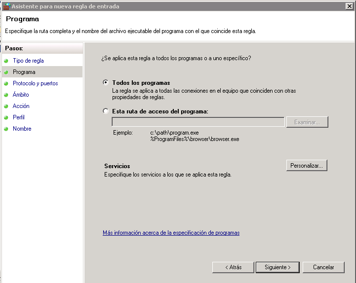 Bloquear IPs desde el firewall de Windows-firewall