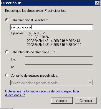 Bloquear IPs desde el firewall de Windows-fw agregar ip a bloquear