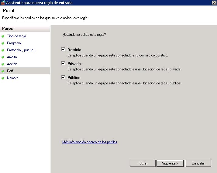 Bloquear IPs desde el firewall de Windows-fw redes