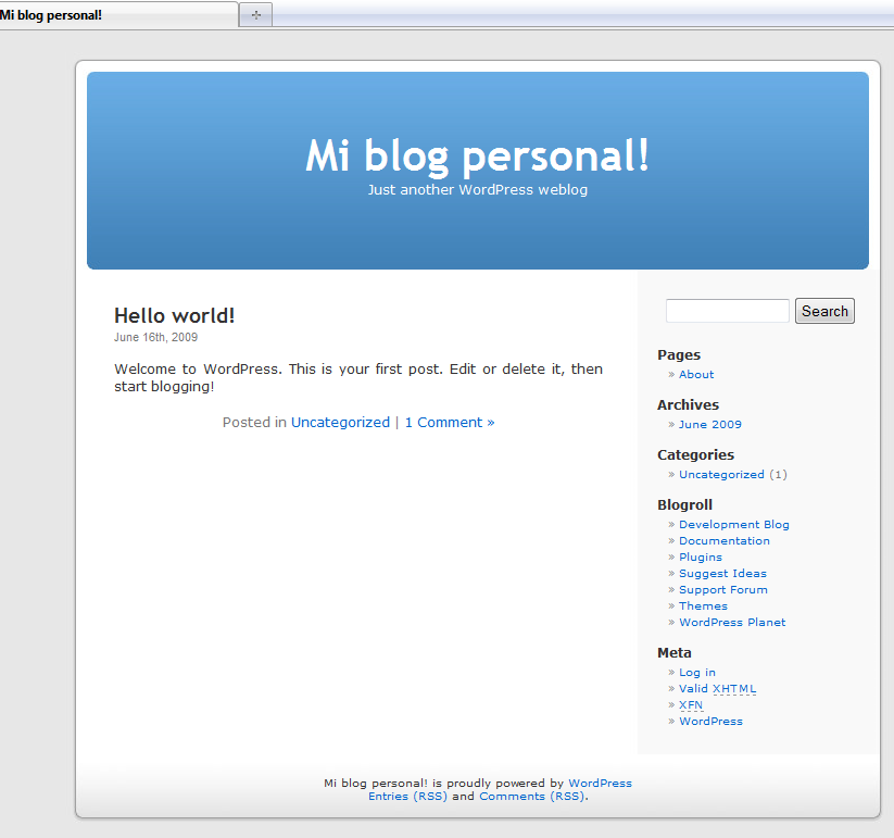 Hosting WordPress en Blackslot 4