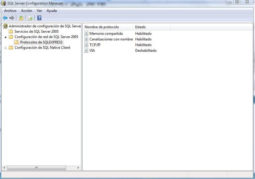 sql server 2008-configuracion-manager