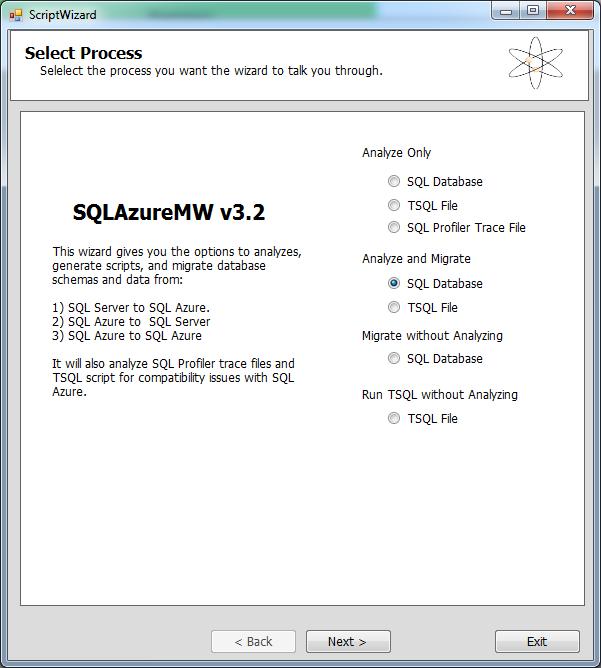 SQL Migration Wizard 1