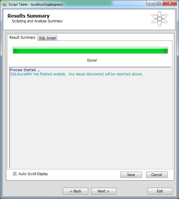 SQL Azure Migration Manager 6