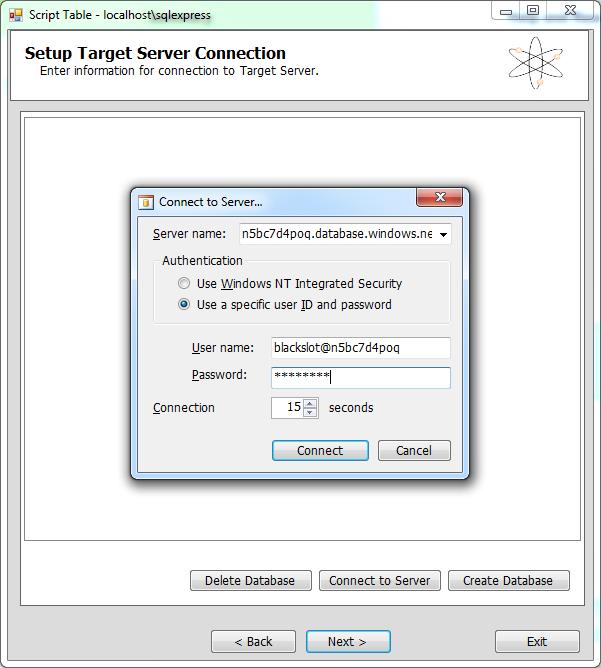 SQL Azure Migration Manager 7
