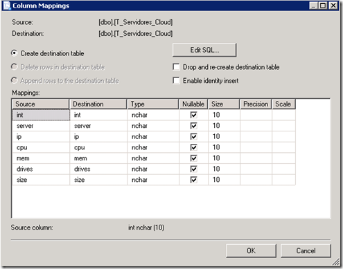 copiar tablas de una base de datos SQL Server a otra-VII