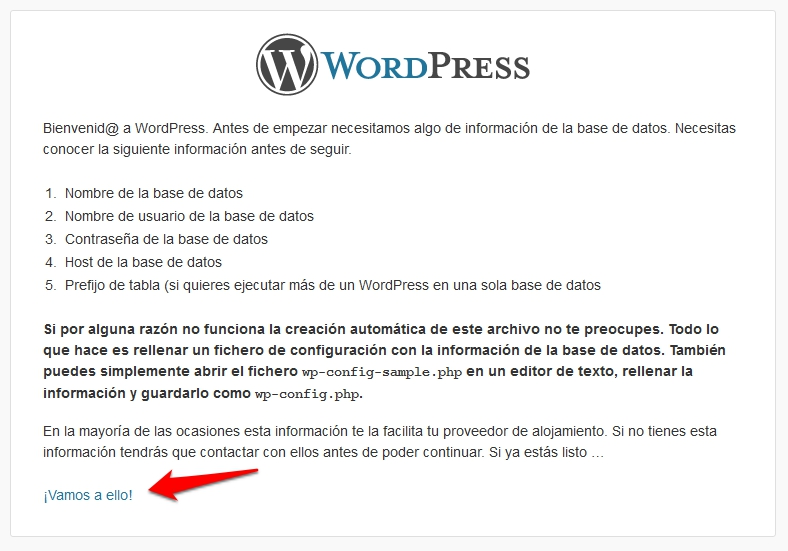 Instalación de WordPress II