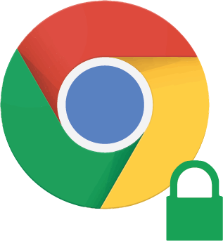 Logotipo-Chrome 56-candado-verde