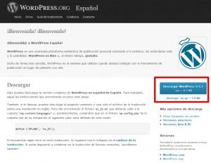 instalar una plantilla de WordPress-descargar wordpress