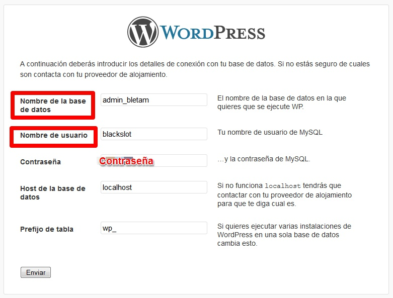 Instalación de WordPress III