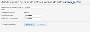 instalar una plantilla de WordPress-crear base de datos-II