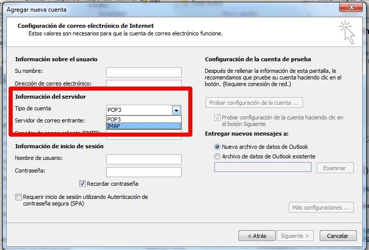 protocolo-pop o imap-correo electronico