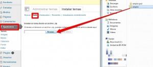 instalar una plantilla de WordPress-subir template
