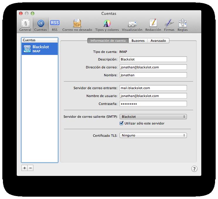 cuenta de correo-mail-configurada-linube