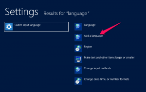 language Windows Server 2012