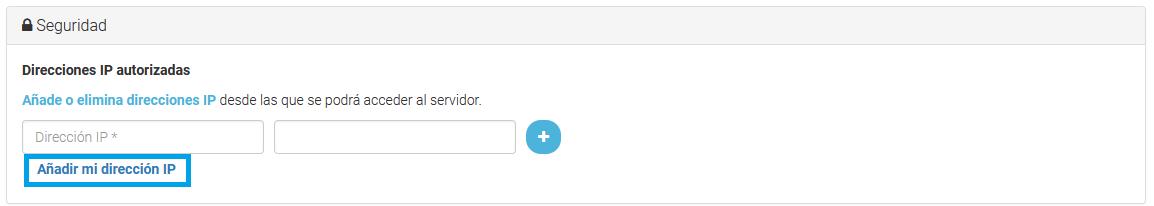 Añade la IP de tu equipo de forma automática.