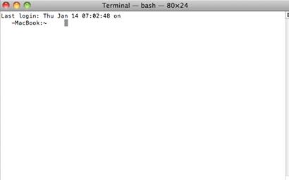 Abrir una consola de comandos en Mac