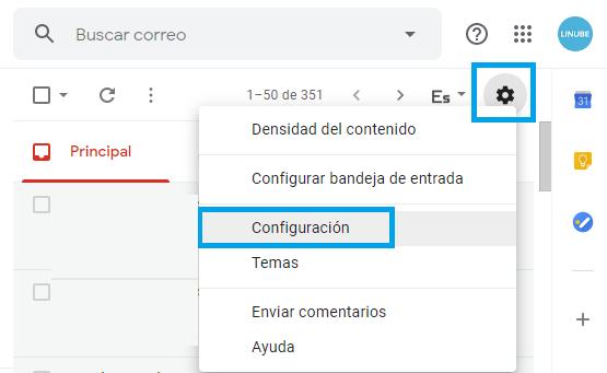 Configurar una cuenta de correo en Gmail