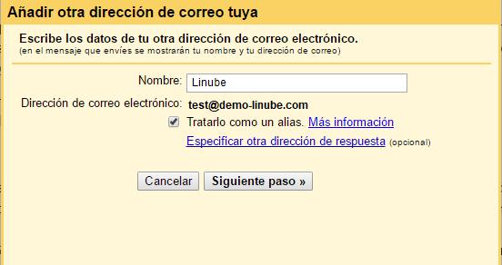 Configura Gmail para el envío de correos