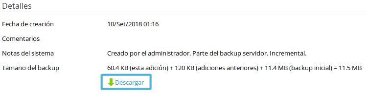 Cómo descargar backups desde Plesk