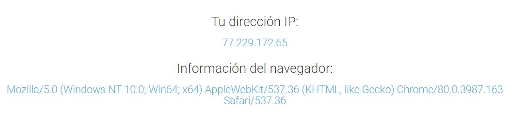 Cómo conocer la dirección IP