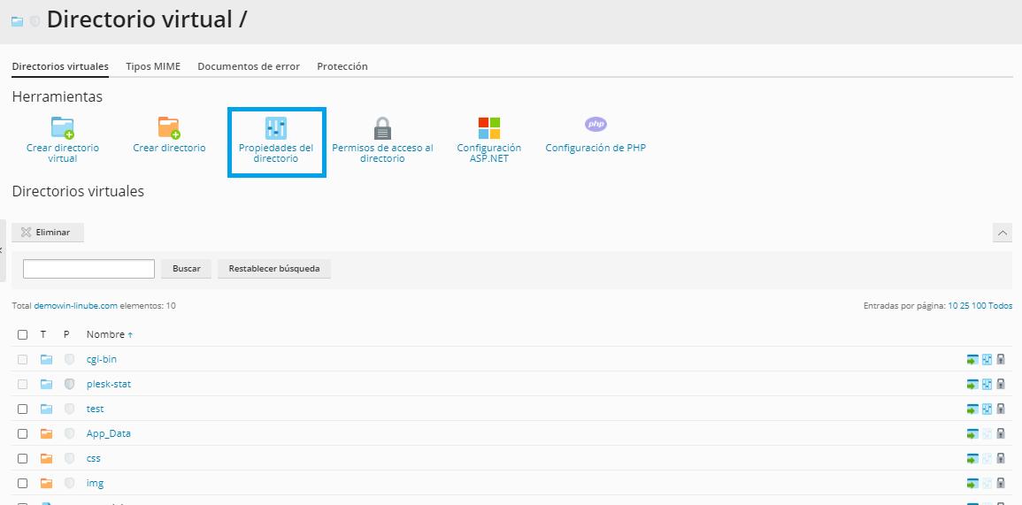 Configurar una web por defecto en Windows