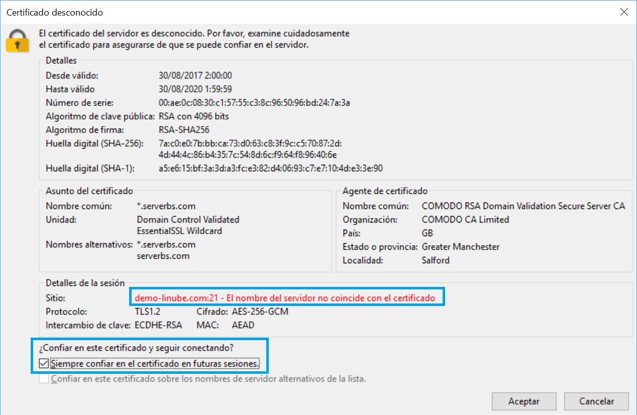 Cómo configurar cliente FTP FileZilla