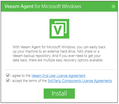 Cómo instalar Veeam Agent en Windows