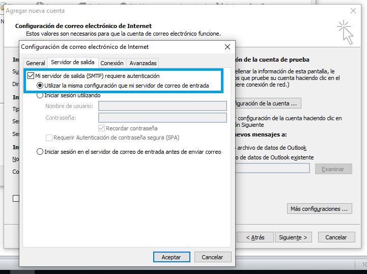 Configuración en Outlook 2010 por POP