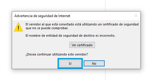 Confirmar certificado en Outlook 2010 y Outlook 2013