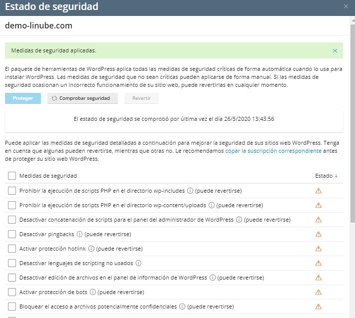 Seguridad en WordPress desde Plesk